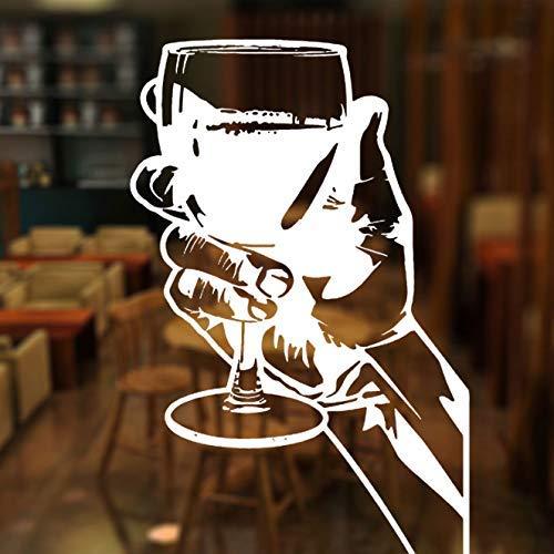 Bar Alcohol Restaurant Whisky Tequila Wijn Drinken Partij Raam Sticker Vinyl Decor Vliegtuig Muur Stickers Verwijderbare Muurschildering Papier 42X65Cm