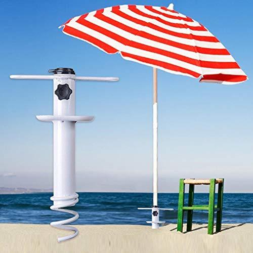 Aniceday - Soporte para sombrilla de playa, resistente anclaje para sombrilla de playa, resistente al viento, portátil, tamaño único, soporte seguro para vientos fuertes
