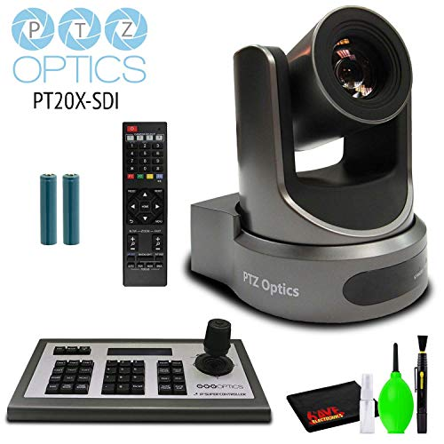 PTZOptics 20x-SDI Gen2 Live Streaming Camera (Gray) with Joystick Controller