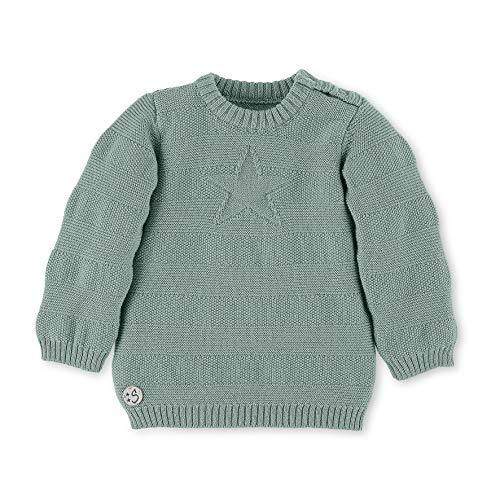 Sterntaler Strick-Pullover mit Stern und Knöpfen, Alter: 6-9 Monate, Größe: 74, Hellgrün