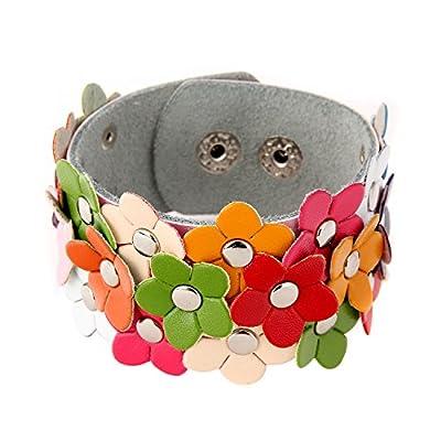 Danibos Sparkling Handmade Braided Wristband Magnetic Rhinestone PU Leather Wrap Bracelet Bangle - Wonderful Gift for Men, Women, Boys and Girls, Teen