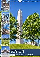 BOSTON Historie und urbane Idylle (Wandkalender 2022 DIN A4 hoch): Sehenswuerdigkeiten und Wahrzeichen (Monatskalender, 14 Seiten )