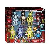FNAF Action Figure: Set di 8 Five Nights at Freddy Toy 5-17,8 cm, gioco FNAF Chica, Foxy, Bonnie, orso Freddy dorato con luci giocattoli per bambini regali