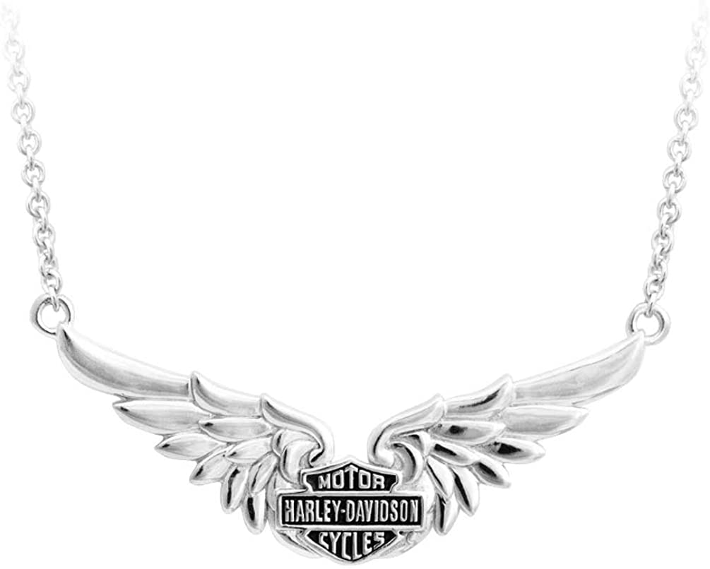 Harley-Davidson Womens Classic Double Wing Ranking TOP7 S Chain San Antonio Mall Necklace BS
