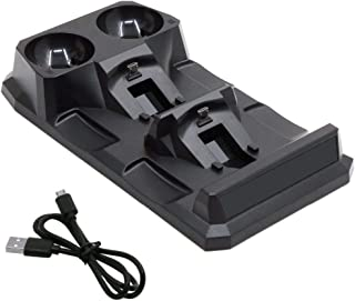 TOOGOO For 4 Ps4 Slim Pro Ps Vr Ps Move Motion Controllers 4 In 1 Charger Usb Charging Dock Station Storage Stand