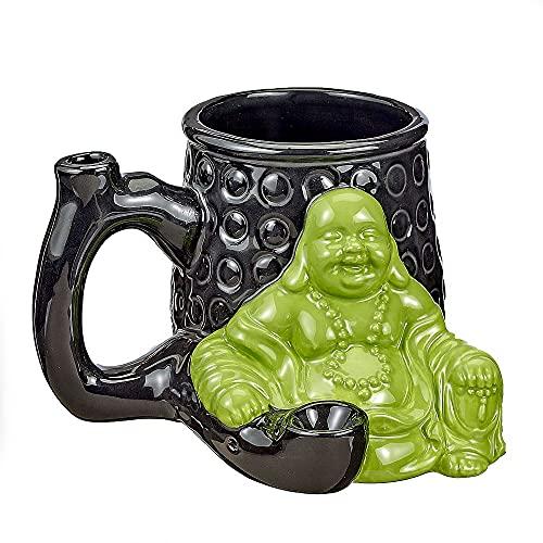 FashionCraft 82527 Buddha Roast and Toast Mug - Larger 14oz Coffee Mug for the peaceful Zen Inspired Green Soul