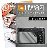 uwazi I 5X Glas-klare Schutzfolie für Panasonic Lumix DC-TZ202 Bildschirmschutzfolie I Folie I Anti Fingerabdruck I Anti Kratzer