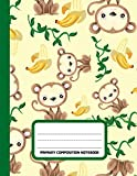 Primary Composition Notebook: Monkey Draw and Write Notebook Elementary With Picture Space: Half Ruled Book