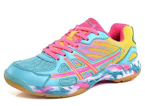 Zapatillas de bádminton Transpirables Zapatillas Deportivas de Interior Confort Antideslizante ⭐