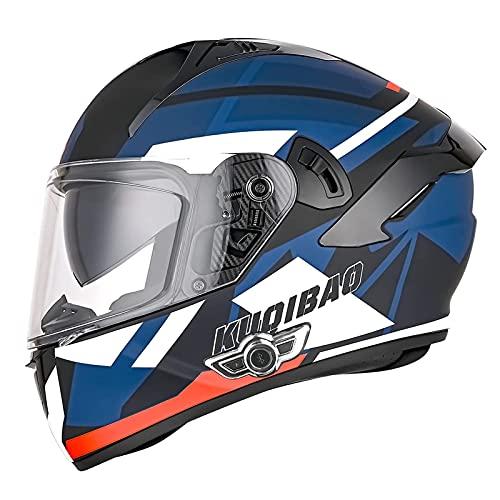LIRONGXILY Casco Moto Modular Casco Moto Bluetooth Integrado Casco Moto Integral para Hombre Mujer Casco Moto Modular con Doble Visera ECE Homologado (Color : I, Size : 57-58CM(M))