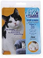 Feline Soft Claws Nail Caps Kitten Clear by Soft Claws