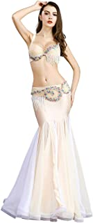 ROYAL SMEELA Belly Dancer Costumes for Women Belly Dancing Skirt Belly Dance Bra and Belt Maxi Long Mermaid Skirts Carnival