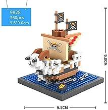 Stacking Blocks - Funny japan Animation one piece micro diamond building block Going Merry Thousand Sunny pirate ship nano bricks model toys (Going Merry)