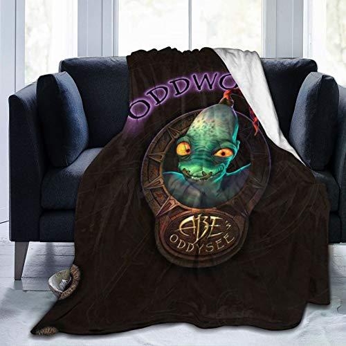 Soulstorm Day One Munch's Oddysee juego de acción Mudokons Odd-world Sligs mantas decorativas acogedoras súper suaves sofá de microfibra 127 x 101 cm