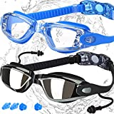 COOLOO Swimming Goggles, Pack of 2, Swim Goggles for Adult Men Women Youth