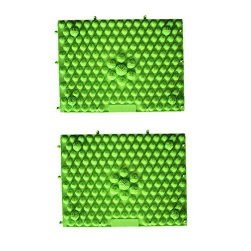 Tapis acupression, réflexologie plantaire marche Toe Plate Coussin de massage Tapis de bain Tapis de yoga (rouge vert) 2Pcs fournitures Massage