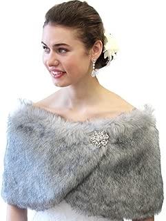 Best silver grey fur shrug Reviews