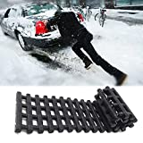 EVTIME Emergency Devices Tire Traction Mats, Portable for Snow, Ice, Mud, and Sand Used to Car, Truck, Van or Fleet Vehicle (24in)