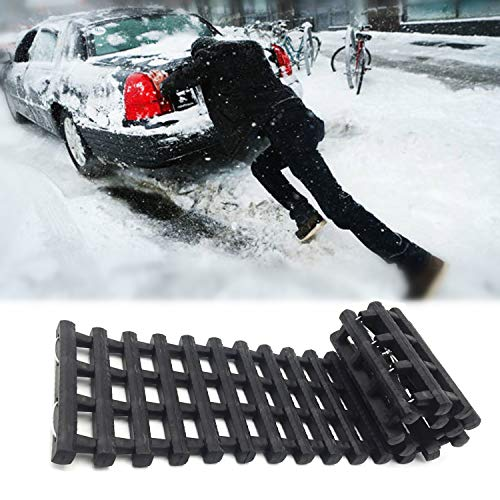 EVTIME Emergency Devices Tire Traction Mats, Portable for Snow, Ice, Mud, and Sand Used to Car, Truck, Van or Fleet Vehicle 24in