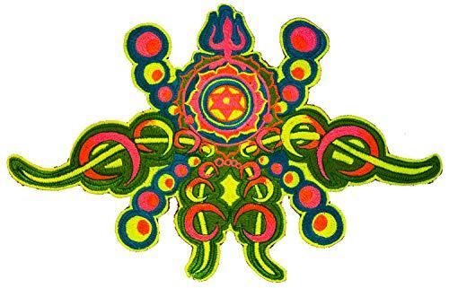ImZauberwald Hyperspace Alien ~ 8 pulgadas psicodélico DMT Art Ayahuasca Vision Patch