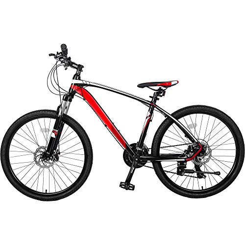 Mountain Bike, Enow 26' Aluminum Mountain Bike 24 Speed Mountain Bicycle with Suspension Fork