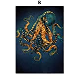 Snake Octopus Quallen Tintenfisch Nordic Poster Wandkunst