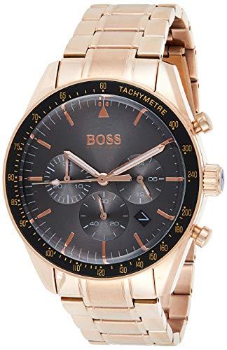Hugo Boss Reloj Cronógrafo para Hombre de Cuarzo con Correa en Oro Rosa 1513632