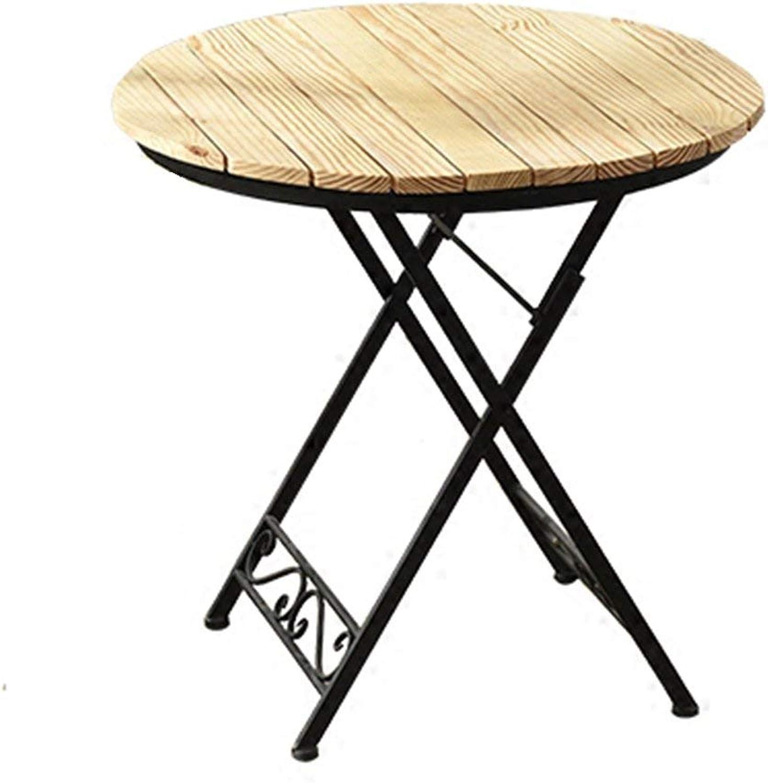 suministramos lo mejor BJYG Mesa Plegable Mesa de café de la la la Mesa de Ocio Familiar de la Familia del Ocio del balcón de Nordic Iron Art Solid Wood  suministro de productos de calidad