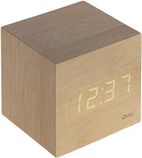 Thermomètre cube finition effet pin naturel - Otio
