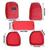 WANGYOU Alfombrillas de Coches Personalizadas Ajuste para Hyundai Génesis Kona Ioniq H Rio Tucson Santa Fe Almohadillas Impermeables para pie Accesorios de Interior Auto Lasting (Color Name : Red)