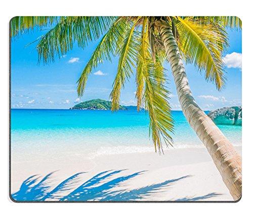 Goobull luxlady Tappetino per Mouse Gaming ID: 41681625Bellissimo Di Noci di cocco Palma tropicale sulla spiaggia e mare