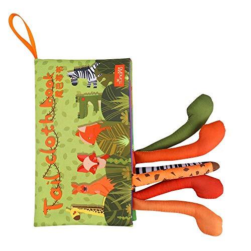 De haute qualité Hochets Mobiles Peluche animal Tails Tissu Livre du nouveau-né poussette Hanging Toy bébé Early Learning Jouets éducatifs cadeau interactif ( Color : Army Green )