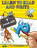 Learn to Read and Write 4 year old: Tracing Letters and Learning to Write for Preschoolers, with exercise Handwriting Practice, Pre-Writing, Little ... Words, kindergarten educational games