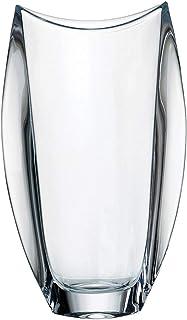 la galaica | - Florero de Cristal Alto Orbit | Jarrón de Bohemia Grande - Decorativo - Ideal para Flores | 18x10x30,5 cm | Envío Rápido