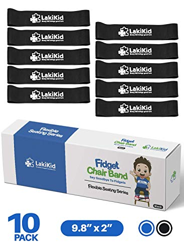 "Chair Bands for Kids with Fidgety Feet :: Fidget Bands for School Classroom Chairs, Ideal for ADHD, Autism, Hyperactivity :: 20"" x 2"" x 3/64"""