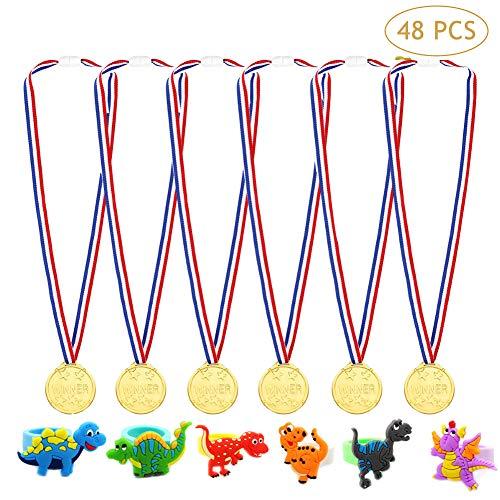 Danolt 48 PCS Set de Fiesta para niños, 24 PCS medallas de...