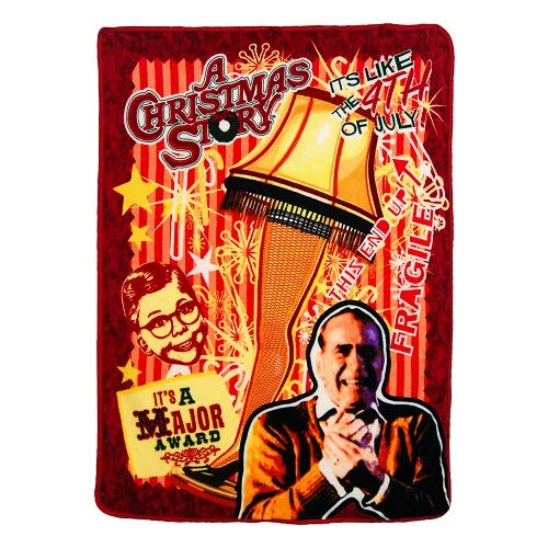 A Christmas Story, 'Retro Lamp' Micro Raschel Throw Blanket, 46' x 60