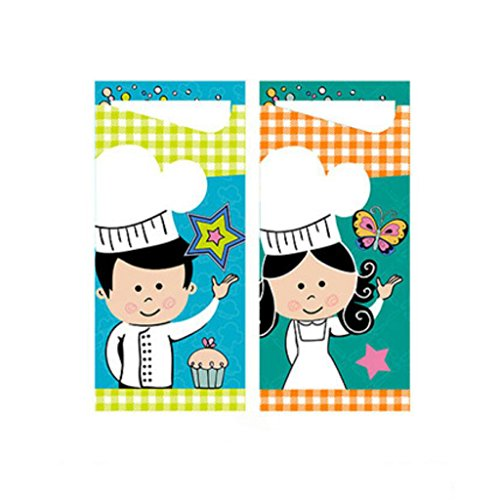 MXJ61 Cumpleanos Decoracion de dibujos animados de impresion Servilleta Fiesta de vestir Mesa de comedor Diseno creativo (Color : Knife and fork sets/100 Pcs)