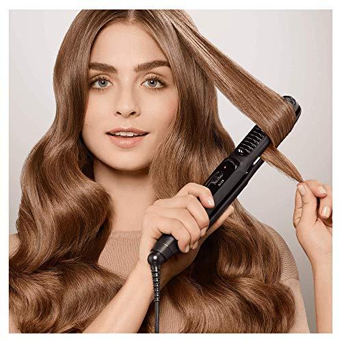 Braun Satin Hair 5 ST570 - Plancha de pelo, placa de cerámica, 4 estilos con rizador y tecnología iónica para potenciar el brillo, color negro