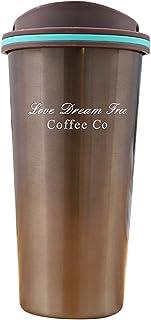 ROSEBEAR ステンレス鋼二重壁真空断熱コーヒーマグサーマルカップハンドル付き17オンス