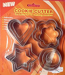 Stainless Steel Cookie Cutter and Moulder 12 Pieces