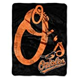 Officially Licensed MLB Baltimore Orioles 'Triple Play' Micro Raschel Plush Throw Blanket, 46' x 60', Multi Color