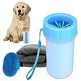 Limpiador de Patas de Perro,Limpia Patas Perro Portátil,Taza de Limpieza para Mascotas,Limpiador de Patas para Perro Gato,para Limpiar Patas de Perro Gato (Blue)