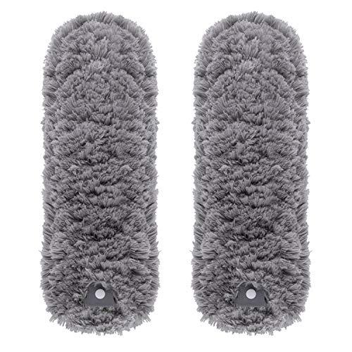 MR.SIGA Recambios de plumero de microfibra sin pelusas, plumero lavable para limpieza del hogar, paquete de 2