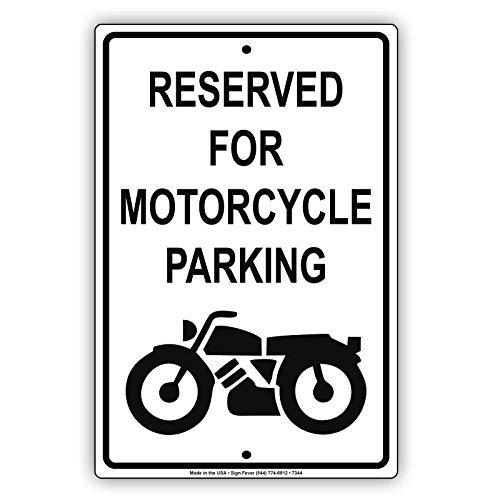 Gereserveerd voor Motorfiets Parkeren Alleen Waarschuwing Kennisgeving Aluminium Teken Metalen Tekenen Vintage Tin Borden Decoratieve Plaque 8x12