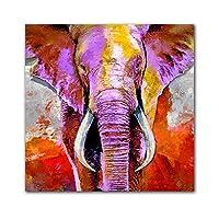 ポスターとプリント象のキャンバス絵画動物の壁アート印刷画像の装飾リビングルームホームルームモダンアート-60x60cmフレームなし