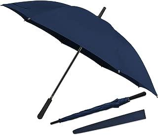 43 In Long Stick Umbrella for Men and Women,Automatic Open, Double Strong Umbrella Bone for Outdoor Use, Rain & Wind Resistant Umbrellas-Purplish Blue