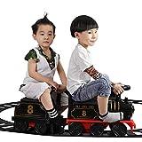 glzcyoo Retro manejable Tren eléctrico Conjunto de Juguete con la Pista de Coches eléctricos for los niños niños y niñas eléctricos de Cuatro Ruedas con Sonido y luz, for niños