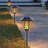 WJHMB Antorcha Solar Luces Solares Luces de Antorcha LED Resistente Al Agua IP65 para Jardín Solar, Efecto de Llama Parpadeante Realista