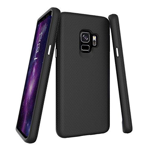 Slynmax Handyhülle für Samsung Galaxy S9,Samsung Galaxy S9 Hülle Silikon,Slynmax Anti-Rutsch Silikon TPU Innenteil Bumper Stoßfest Handyhülle TPU + PC Back Case